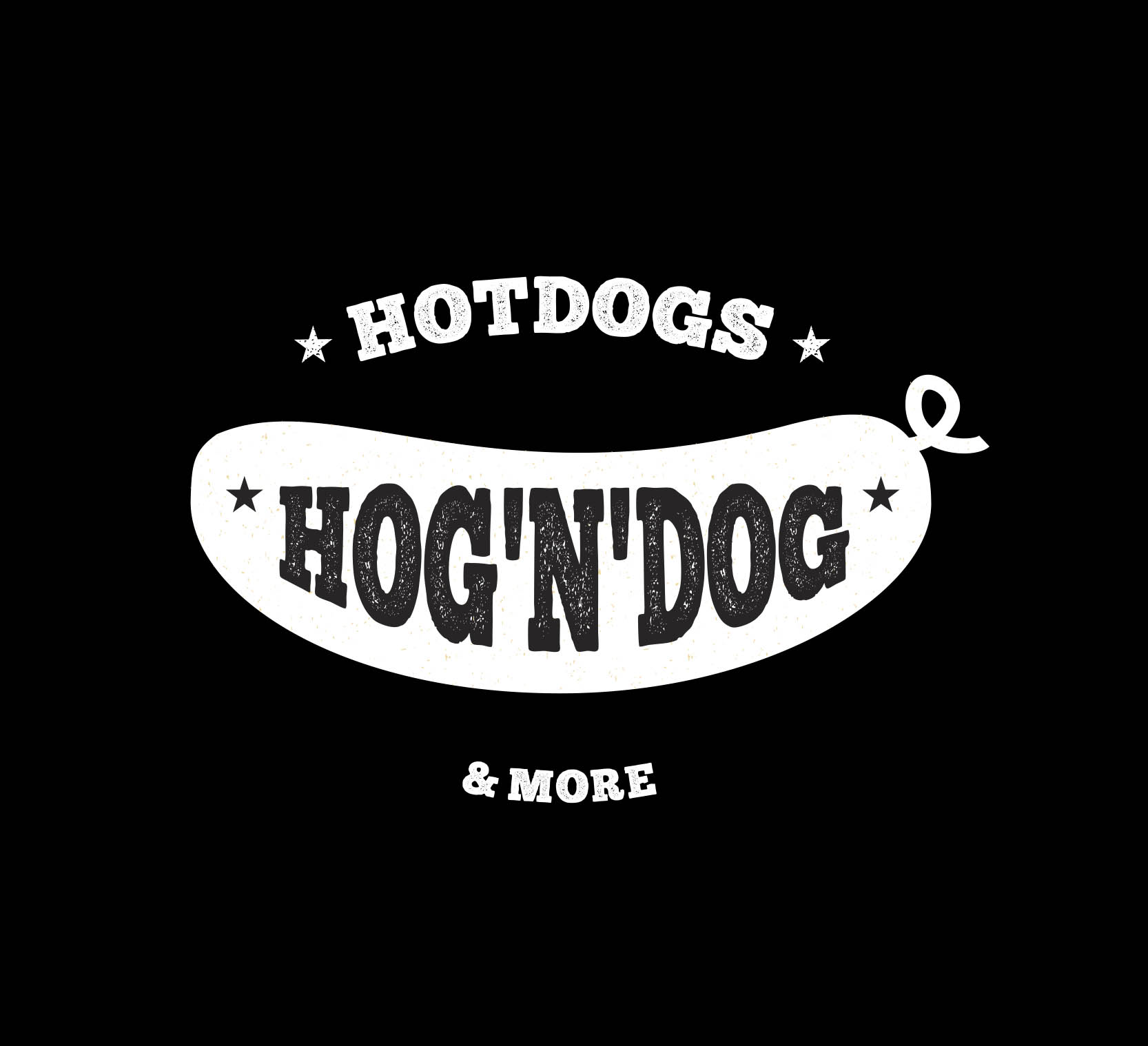 hog'n'dog logo hog'n'dog visual identity